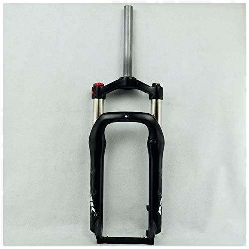 Horquilla de suspensión Ultraligera Biki Front Front Tenedor 20 Pulgadas para 4.0'Aire de neumáticos 1-1/8' Freno de Disco QR 9mm Travel Travel 120mm Manual Lock Snow Beach XC MTB Bicicleta Accesor