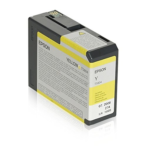 Epson - Cartucho de tinta c13t580400 amarillo para stylus pro 3800/3880/3880 designer edition