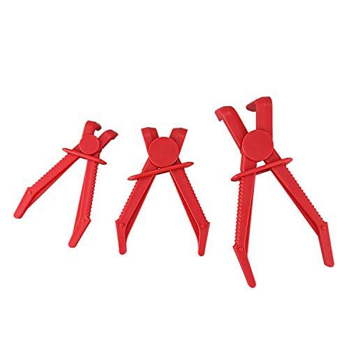 YUQIYU 3Pcs Plastic Hose Clamp Tool Kit Automobile Tubing Clamp Tool Brake Fuel Hose Clamp Cutoff Pliers Tool Kit