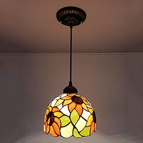 Lámpara Colgante De Techo,Lámpara De Araña Colgante Sala,Plafón De Techo,Iluminación Candelabro,Lámpara Barroca De Vidrio Retro Girasol D20Cm