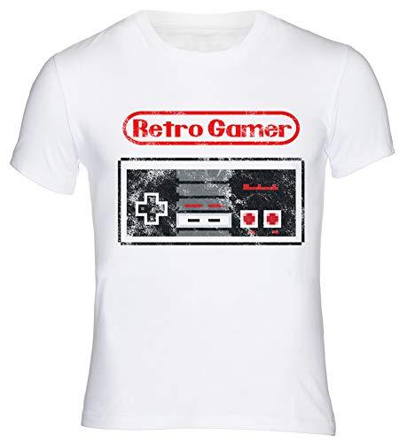 T-Shirt Retro Gamer Gaming Nerd Geek Hacker C64 Commodore Amiga Atari SNES Mario Super Pac Man Space Invaders XL