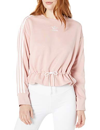 adidas Originals Damen Sweater Sweatshirt Pullover, Pink Spirit, Medium