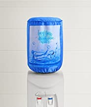 Swayam Drink Water Digitally Printed Bottle Cover with Water Proof Lining Inside, Elasticated Neck, Blue Colour