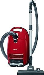 Miele Complete C3 EcoLine Staubsauger Bodenstaubsauger (mit Beutel, 4,5 Liter Staubbeutelvolumen, 550 Watt, 12 m Aktionsradius, integriertes dreiteiliges Zubehör) rot