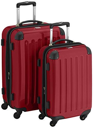 HAUPTSTADTKOFFER - Alex - 2er Koffer-Set Hartschale glänzend, 65 cm + 55 cm, 74 Liter + 42 Liter, Rot