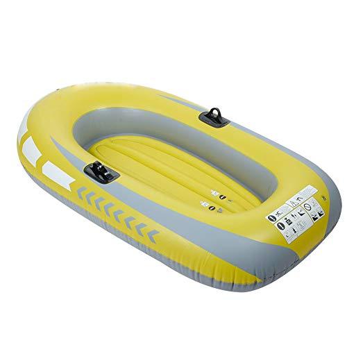Cocoarm Bote Inflable Bote de remos para 2 Personas Bote de recreo de PVC Inflable Amarillo Bote de remos Bote Inflable Bote de Remo Barco de Aire Pesca Herramienta de Buceo a la Deriva
