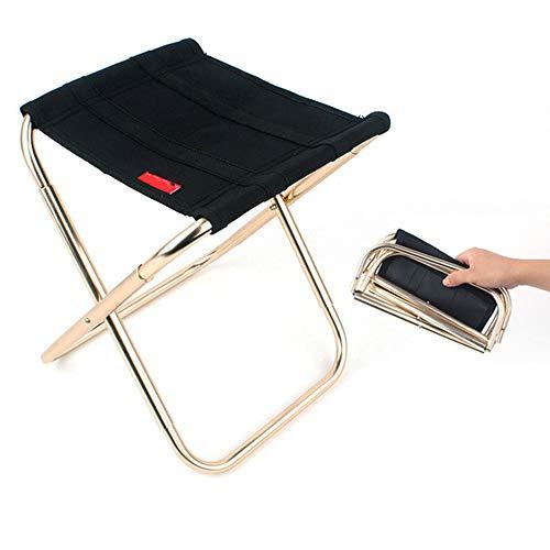 LSS Silla Plegable portátil para Exteriores, Taburete para Acampar, fácil de almacenar, Simple de ensamblar, de tamaño pequeño, Adecuado para Viajes de Campamento y Jardines, etc.