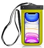 Sovica wasserdichte Tasche kompatibel mit BQ Aquaris C handyhülle IPX8-Zertifikat unterwassergehäuse hülle Handytasche (Gelb)