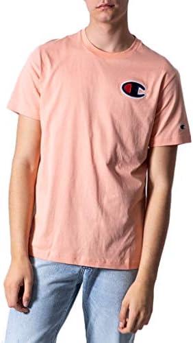 Champion Camiseta Rosado con Logo en el Pecho Camiseta Manga Corta Hombres