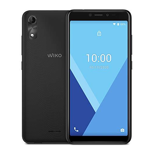"""WIKO Y51 - Smartphone de 5,45"""" (Dual SIM, 16GB de ROM ampliables, cámaras de 5MP, Flash, Quad-Core 1,3GHz, 1GB RAM, Modo fácil de Uso) Deep Grey"""