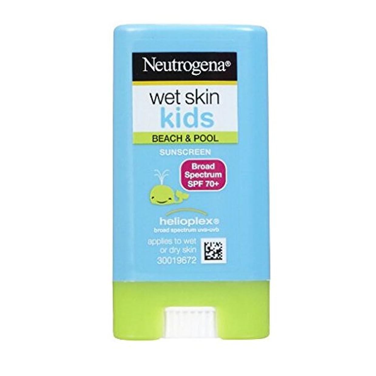 整然とした重々しい保証ニュートロジーナ サンスクリーン SPF70 小さな子にも塗りやすいスティックタイプ13g 100%ナチュラル処方 目にしみない日焼け止め 濡れた肌にもOK! ビーチやプールで大活躍 アメリカの皮膚科医が一番に勧めるサンスクリーン Neutrogena Wet Skin Kids Beach & Pool Sunscreen Stick Broad Spectrum SPF 70, .47 oz [並行輸入品]