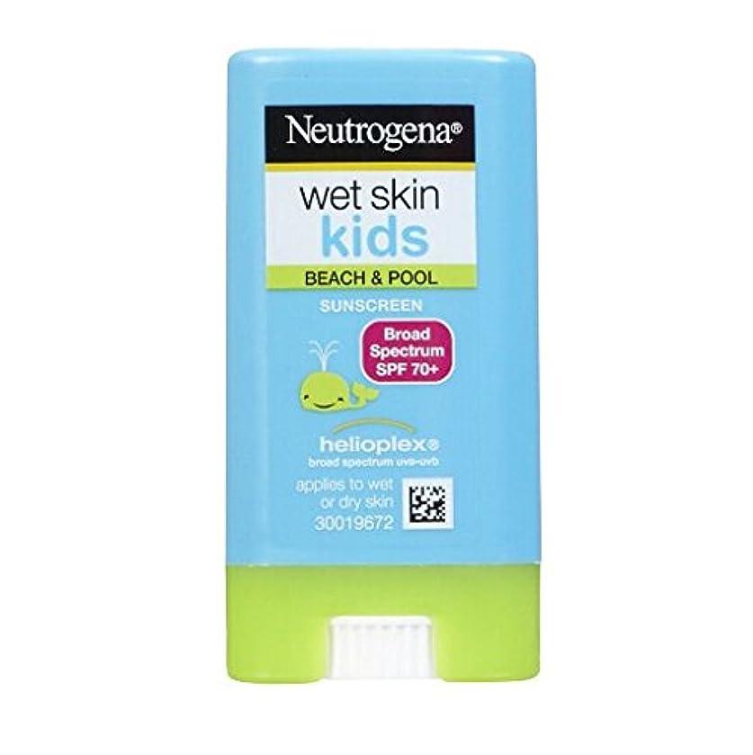 役員遠足肘ニュートロジーナ サンスクリーン SPF70 小さな子にも塗りやすいスティックタイプ13g 100%ナチュラル処方 目にしみない日焼け止め 濡れた肌にもOK! ビーチやプールで大活躍 アメリカの皮膚科医が一番に勧めるサンスクリーン Neutrogena Wet Skin Kids Beach & Pool Sunscreen Stick Broad Spectrum SPF 70, .47 oz [並行輸入品]