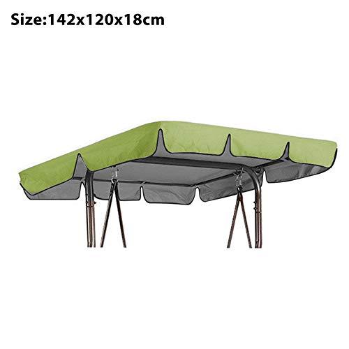 Souarts Ersatzdach Gartenschaukel Schaukel Sonnendach Hollywoodschaukel Dachplane Universal für 2/3 Sitzer 210D Wasserdicht Silberbeschichtet Oxford-Tuch