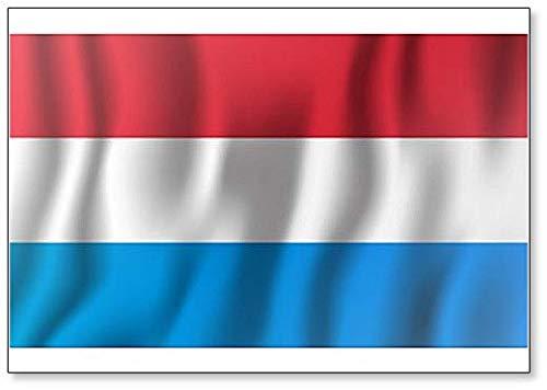 Kühlschrankmagnet Luxemburg, realistische winkende Flagge, Illustration