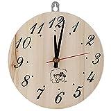 DaMohony Reloj de sauna de 8 pulgadas con temporizador decorativo para sauna accesorio sauna sala decoración del hogar