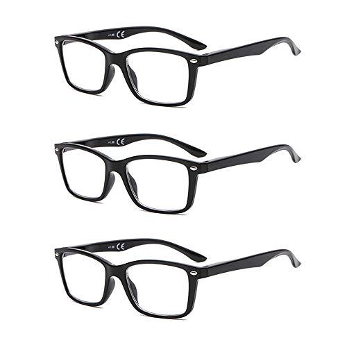 Suertree Feder Scharnier (3 Pack) Lesebrillen Sehhilfe Augenoptik Brille Lesehilfe für Damen Herren von 1.5X BM151