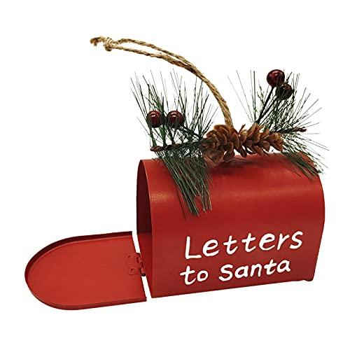 K-Park Adornos de Navidad en forma de buzón, caja creativa de dulces de Navidad, colgante de árbol de Navidad atractivo para decoración de Navidad, el mejor regalo adecuado
