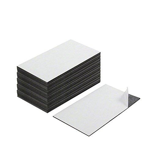 First4magnets MF8951(SA) visitekaartmagneet - lijm voor & magneet op de achterkant (89 x 51 x 0,8 mm) (verpakking met 100), zilver, 25 x 10 x 3 cm