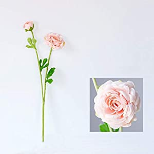 WEIMEIDA Realistic Camellia Artificial Flowers for Decoration Rose Silk 2 Heads Fake Flowers Bouquet Plastic Faux Flower Home Wedding Party Decor Pleasant