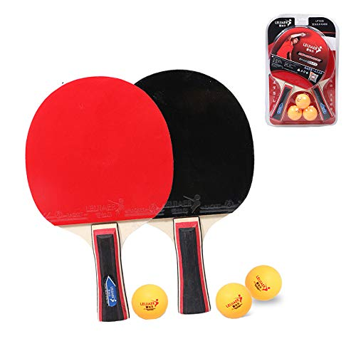 Read About Lcyy-Abs Ping Pong Paddle Set,Professionals Table Tennis Bats Set,2 Premium Rackets and 3...