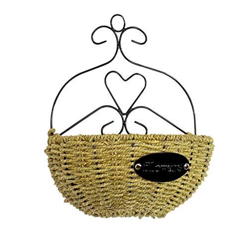 Vasi tradizionali Fiore di parete Hanging parete del fiore Pianta in vaso Cestino di tessuto a mano Willow Rustic rattan Birds Nest cesti di fiori decorazione domestica Pot Vasi e accessori per piante