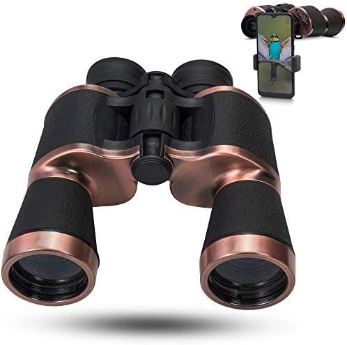 ZEBHAAM 20x50 High Power Rose Gold Binoculars for Kids and Adults Waterproof Hunting Binoculars product image