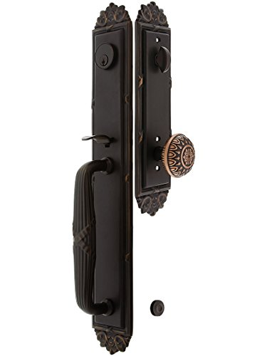 Imperial Style Tubular Handleset in Oil Rubbed Bronze with Lancaster Knobs and 2 3/8