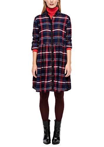 s.Oliver Damen 14.910.82.5258 Kleid, Blau (Navy Glencheck 59r8), (Herstellergröße: 36)