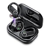 Auriculares Inalambricos Deporte, Auriculares Bluetooth 5.1 Inalambricos con Estuche de Carga LED, IPX7 Impermeable 56H Tiempo de Reprodución Sonido Estéreo Adatto per Lavoro e Sport