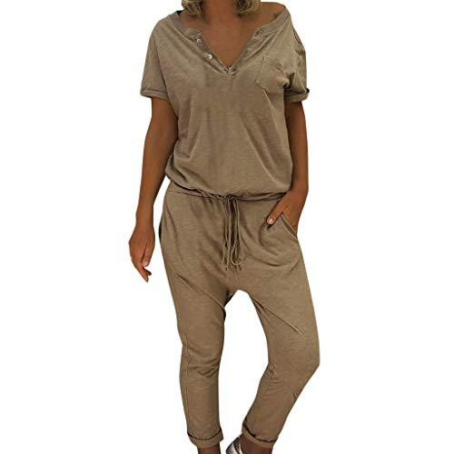 Pantsuit Signore Lungo Pianoro Le con Casual della Moderna Donna Tuta Cavo Elegante del Bicchierino Manicotto Casuale Tuta Pantaloni Casual Moda dell'Annata delle Donne