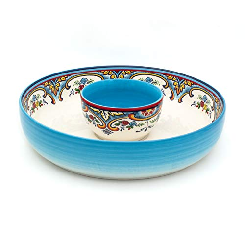 Euro Ceramica Zanzibar Chip and Dip Bowl