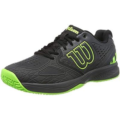 Wilson Kaos Comp 2.0, Zapatilla de Tenis para tenistas de Cualquier Nivel, para Todo Tipo de Superficies, sintético, para Hombre, Color Negro/Gris/Verde, Talla 42 EU