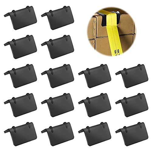16er-Set Kantenschutz-Set für Spanngut mit Ratsche,Kantenschutz-Zurrgurte,Kantenschutz-Winkelsicherung,LKW-Kantenschutz, für Zurrgurte mit 25 mm Breite (25 mm)