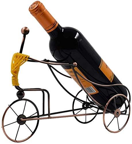 Zyyqt Botellero, Acero Inoxidable Ideas prácticas Estante del Vino decoración del hogar artesanía Sala DecorBronze