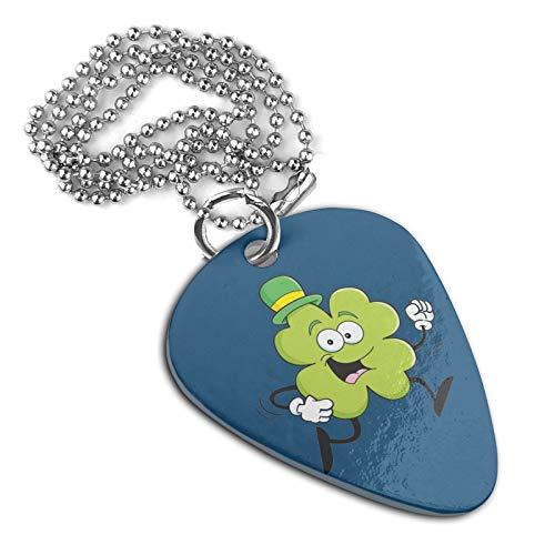 Cartoon Clover Necklace Guitar Pick Shape Pendant Neck Pendant Key Chain Pet Dog Tag Badge