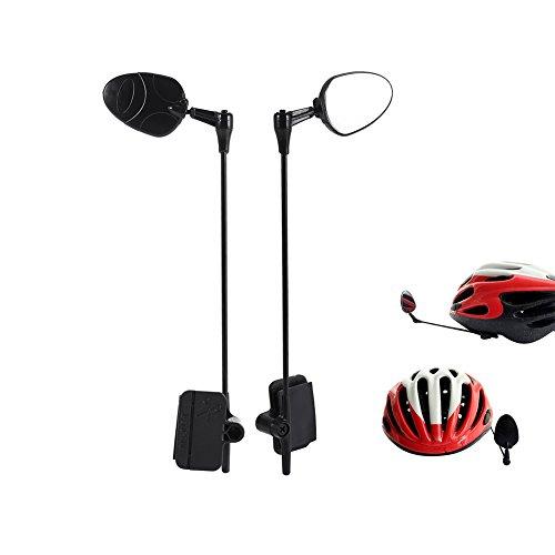 Yosoo 2pcs Bike Helmet Mirrors Rear View Mirror Cycling Eyeglass Mirror Universal Adjustable Side Mirrors Durable ABS Safety Bike Mirror