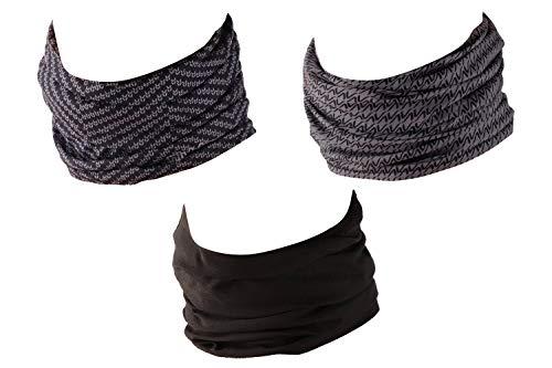 Hilltop zestaw 3 chustek wielofunkcyjnych, chusta, bandana z obszytymi krawędziami w najnowszych wzorach