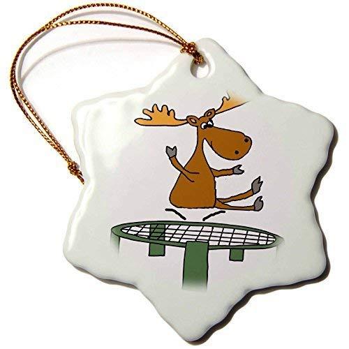 Dant454ty Moose Springen Op Trampoline Cartoon Kerst Ornamenten voor het Huis 2019 voor Vrouwen Vrienden Kids Kerstboom Ornament