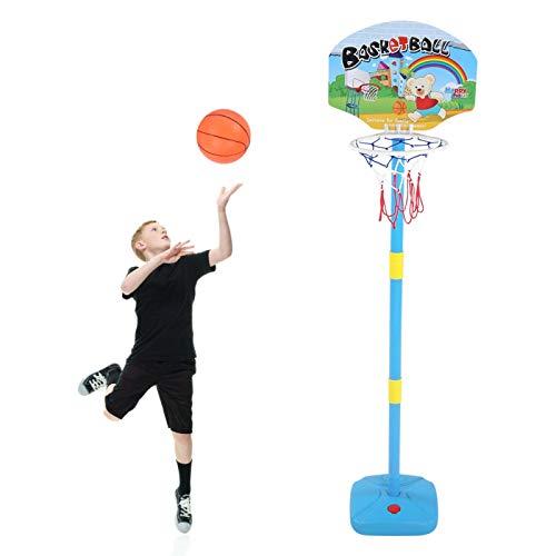 Juego de aro de baloncesto para niños, soporte de baloncesto deportivo de plástico para niños con altura ajustable, interior al aire libre, juegos de canasta para niños, juguetes educativos, para niño