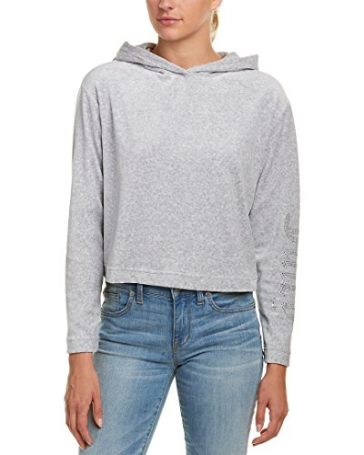 Juicy Couture Gothic Logo Velour Hoodie Grey (S)
