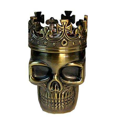 Massiver King Skull Grinder mit Spiegel im Innenraum