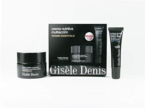 Gisèle Denis - Pack de Cuidado Facial, Contorno de Ojos 15 ml y Crema Nutritiva Multiacción Vitamin Essentials 50 ml, Promoción, Cuidado Facial, Hidratante, Piel Madura y Seca