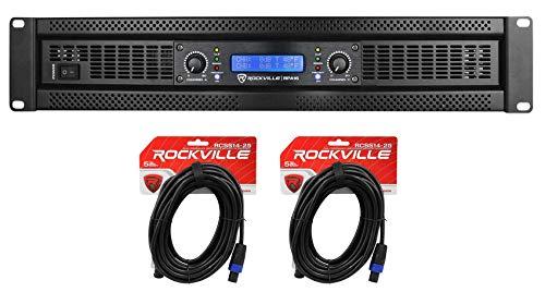 Learn More About Rockville RPA16 10,000 Watt 2 Channel Power Amplifier Pro/DJ Amp+Speakon Cables