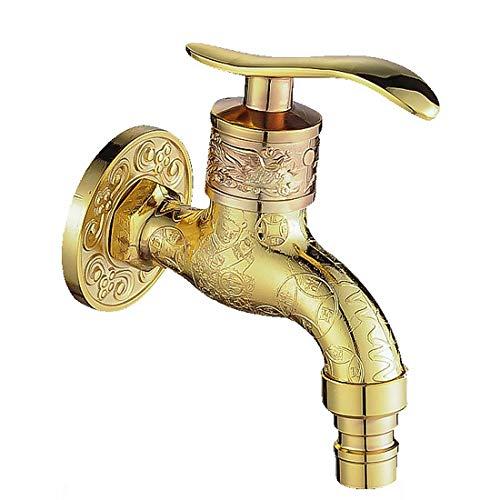 Grifo vintage, montaje en pared, aleación de dragón de vanidad antigua para baño de cocina de baño (bronce),C