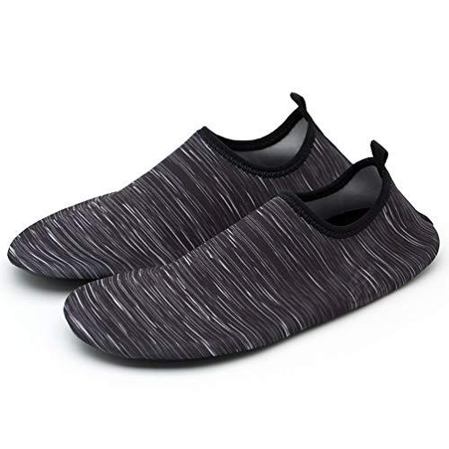 Cuidado de la Piel Calzado de Yoga específico para caminadora Calzado Ligero y Delgado para Correr Descalzo Calzado para caminadora Calzado Suave para Caminar Descalzo (Gris 43-44)