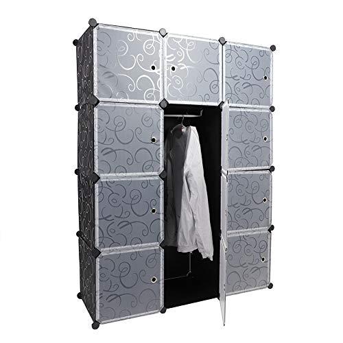 Changor Portable DIY Portable Wardrobe, Storage Solution Plastic Storage Demand Closet Wardrobe