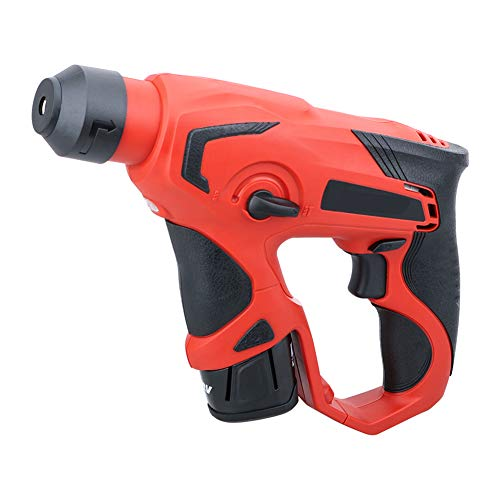 12V Light Cordless Rechargeable Rotary Hammer, Lithium-Ion Electric Hammer Impact Drill Multifunction Impact Drill