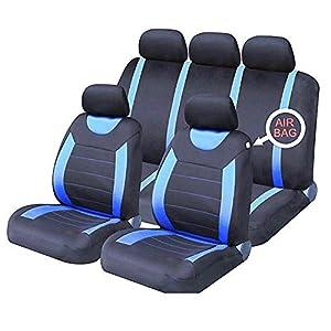 Sakura SS5292 Juego completo de fundas para asientos de coche, Azul