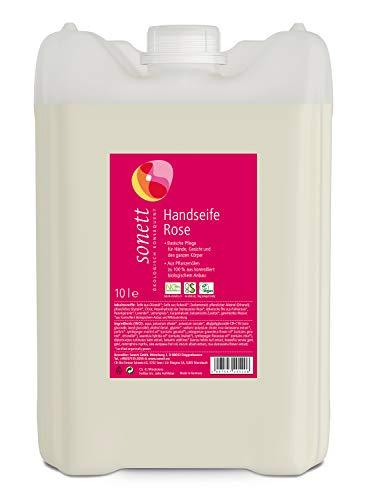 Handseife Rose: Basische Pflege für Hände, Gesicht und den ganzen Körper, 10 l