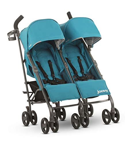 JOOVY Twin Groove Ultralight Umbrella Stroller, Turquoise